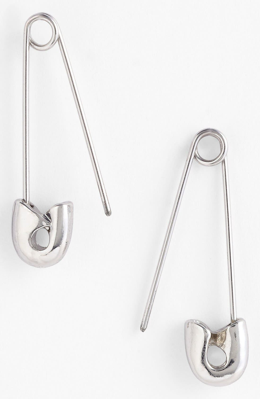Alternate Image 1 Selected - Carbon Copy Safety Pin Earrings