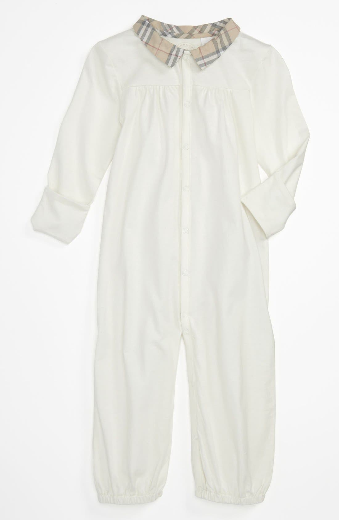 Alternate Image 1 Selected - Burberry Convertible Gown (Baby)