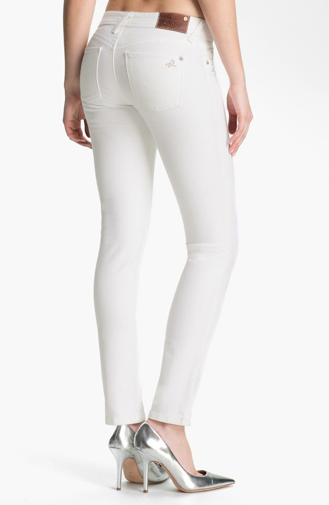 Alternate Image 2  - DL1961 'Amanda' X-Fit Stretch Denim Skinny Jeans (Milk)