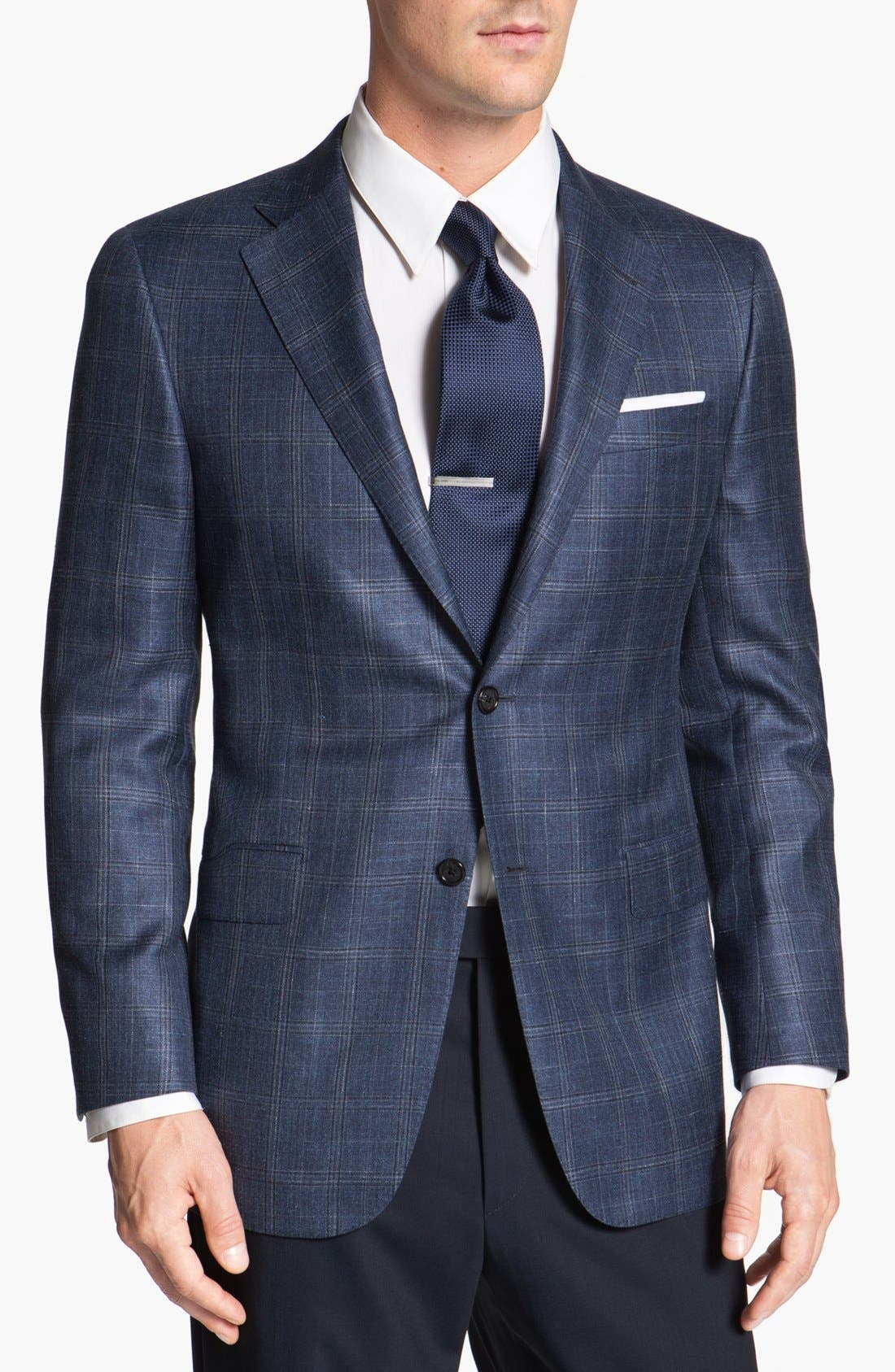 Alternate Image 1 Selected - Hickey Freeman Windowpane Sportcoat