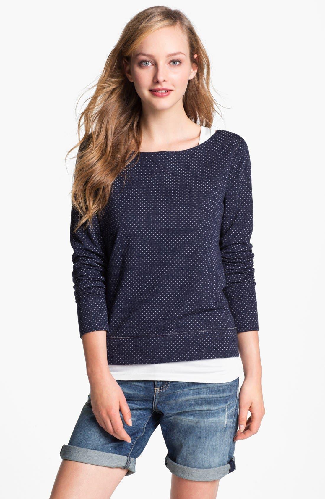 Alternate Image 2  - Three Dots Reversible Print Sweatshirt
