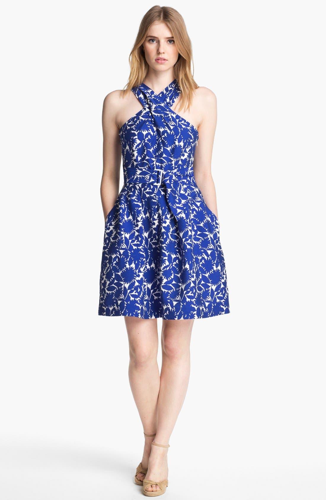 Alternate Image 1 Selected - Mcginn 'Serafina' Print Halter Dress