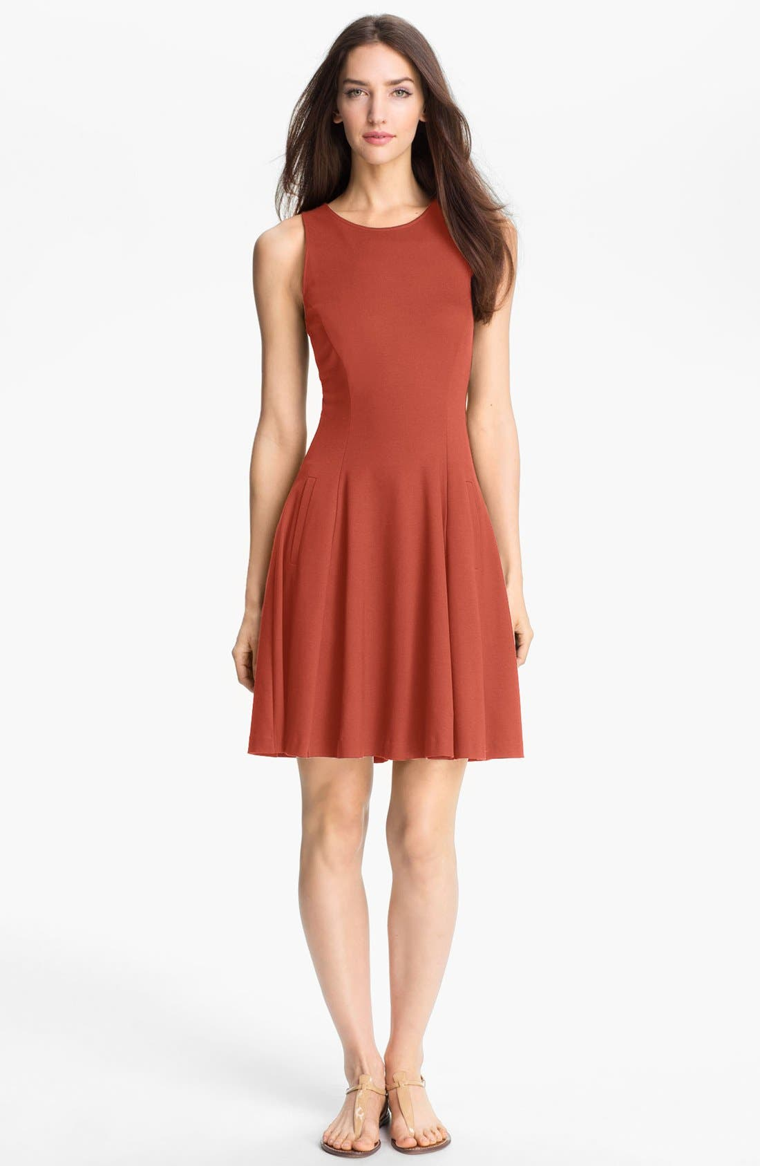 Alternate Image 1 Selected - Theory 'Panoa' Stretch Fit & Flare Dress