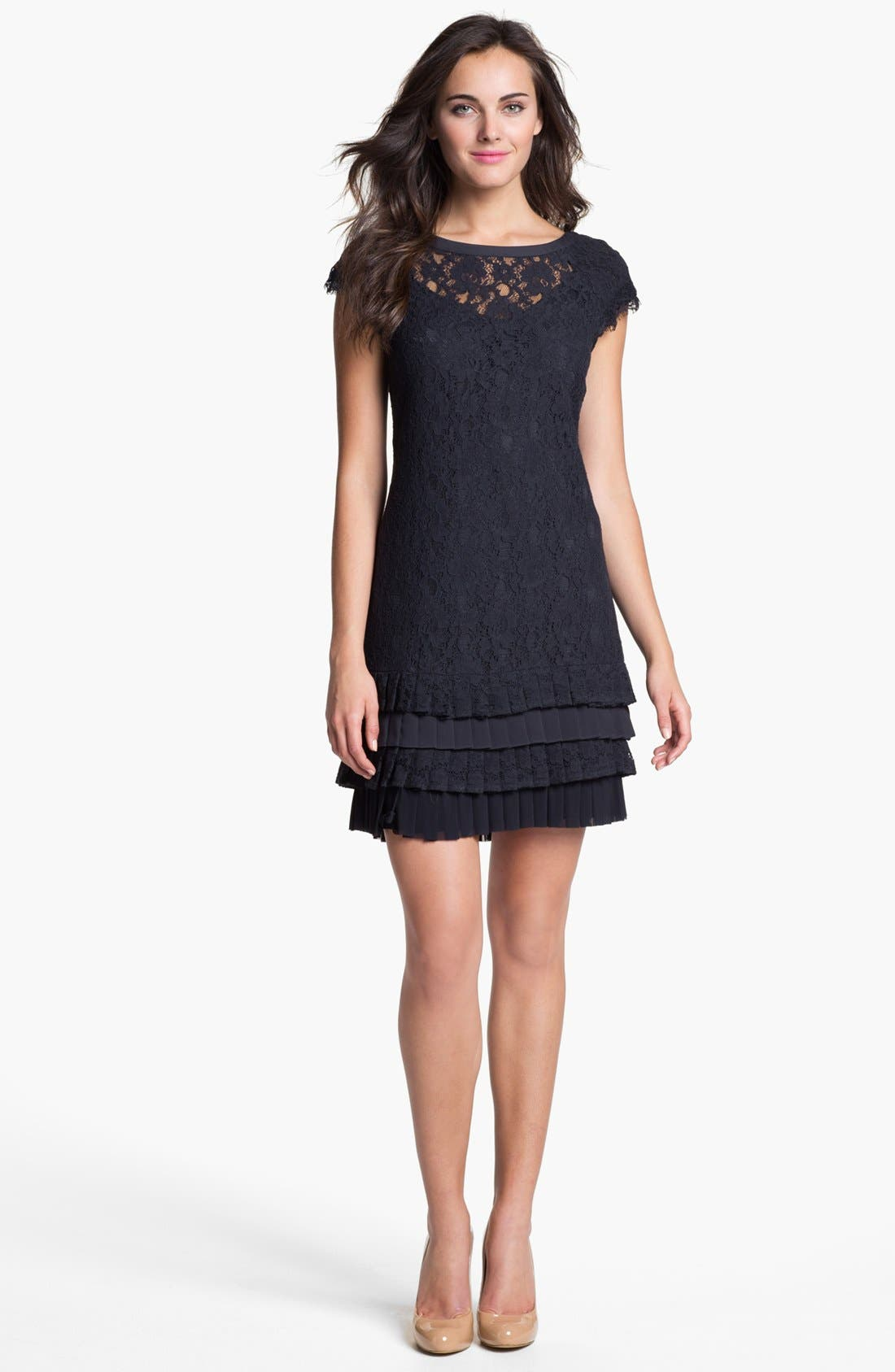 Alternate Image 1 Selected - Jessica Simpson Tiered Lace Dress