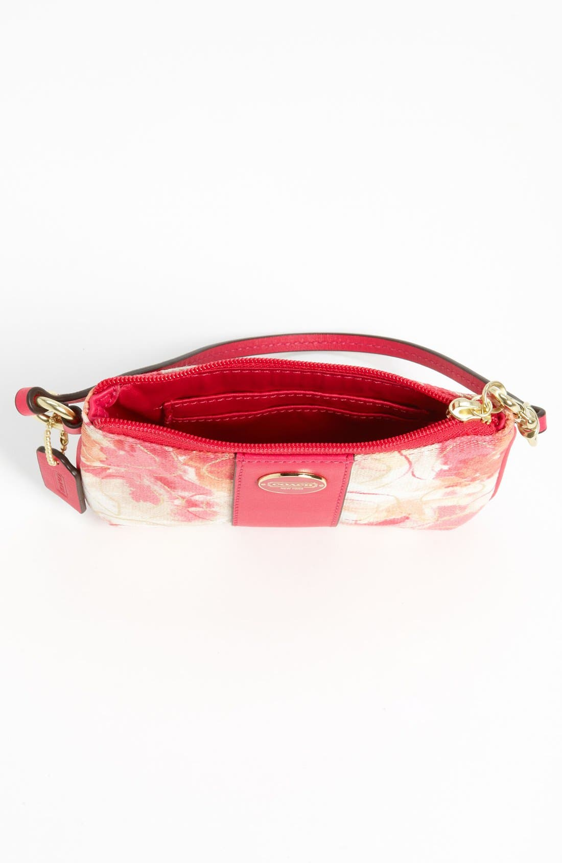 Alternate Image 3  - COACH 'Small' Floral Wristlet