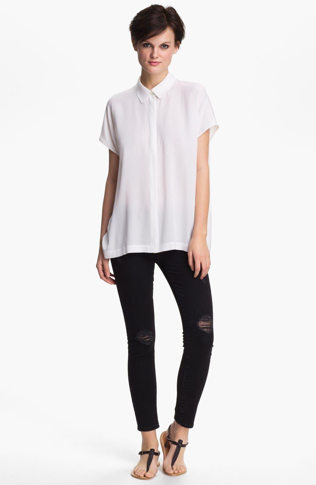 Alternate Image 1 Selected - Vince Stretch Silk Shirt