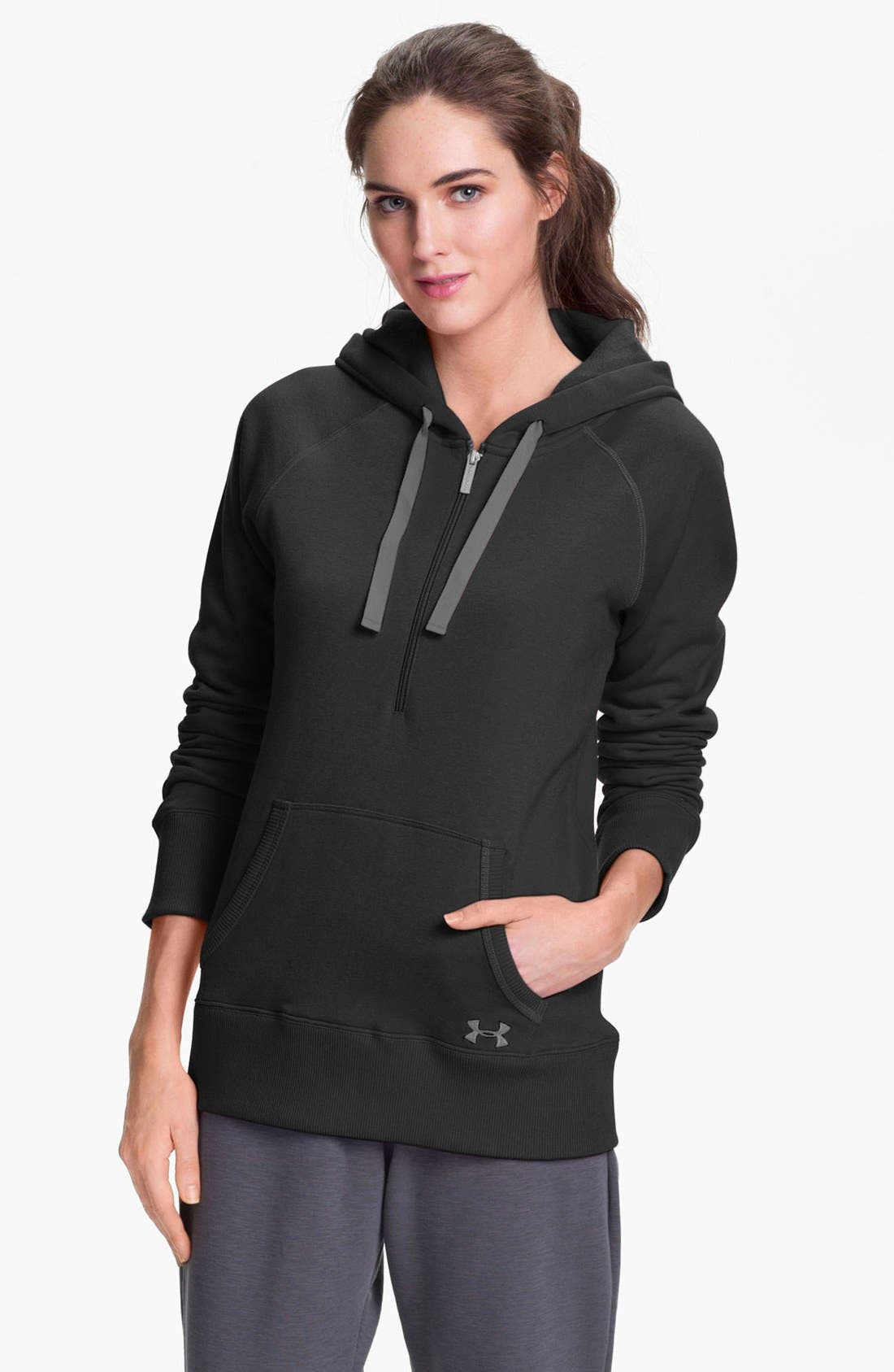 Alternate Image 1 Selected - Under Armour 'Storm' Half-Zip Charged Cotton Hoodie