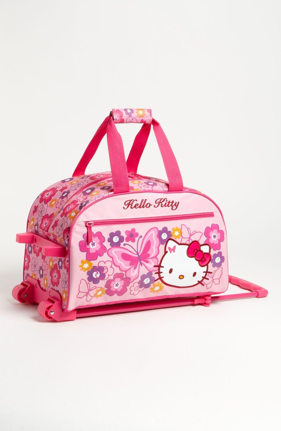 Alternate Image 1 Selected - Hello Kitty® Rolling Travel Bag (Girls)