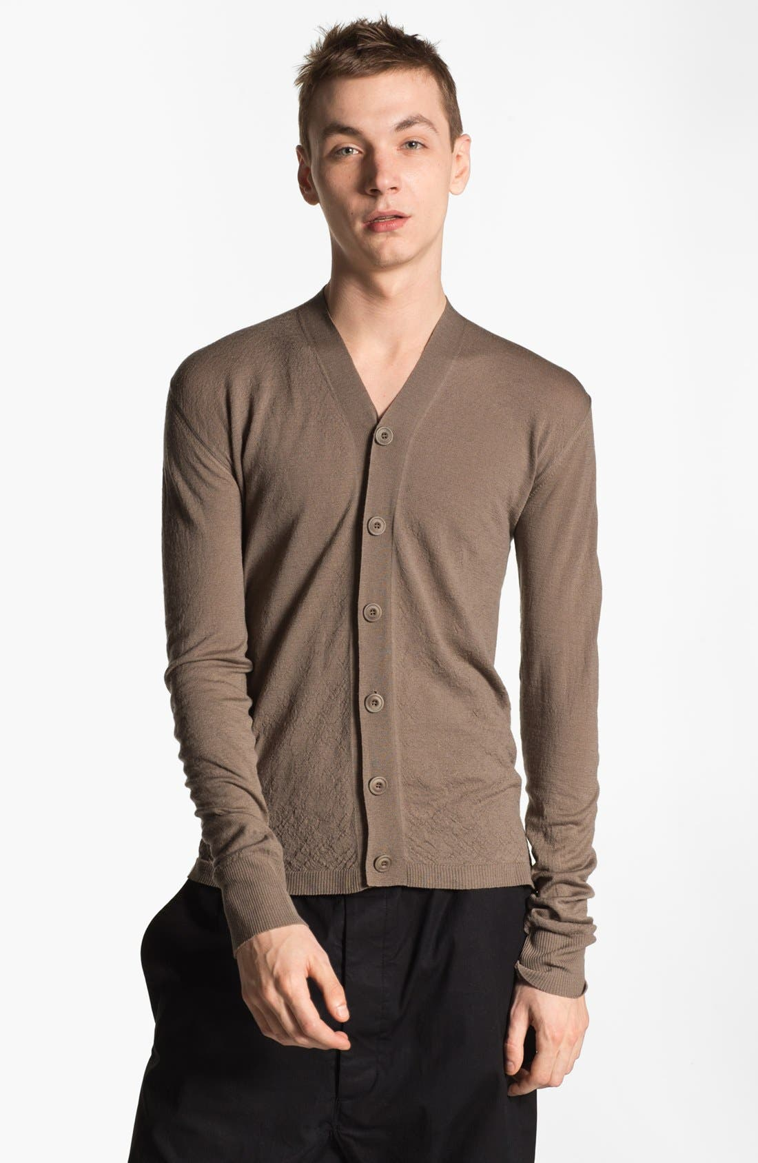 Alternate Image 1 Selected - Rick Owens 'Island'  Merino Wool Cardigan