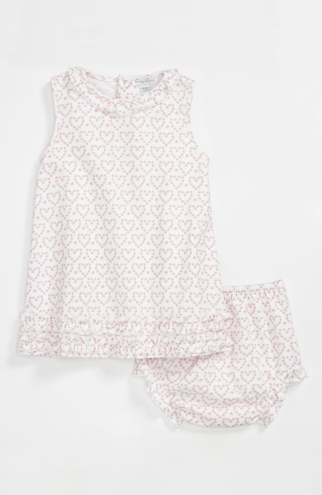 Alternate Image 1 Selected - Kissy Kissy Sleeveless Dress & Bloomers (Baby)