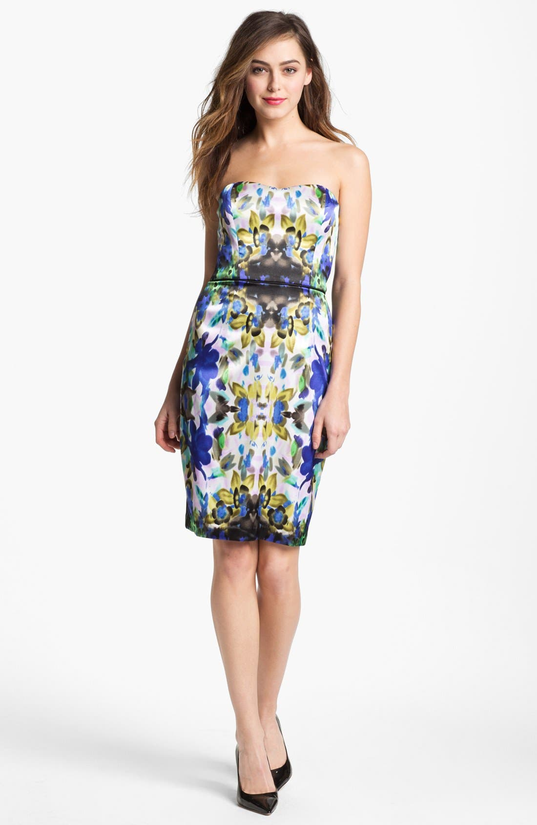 Alternate Image 1 Selected - Maggy London Print Satin Dress