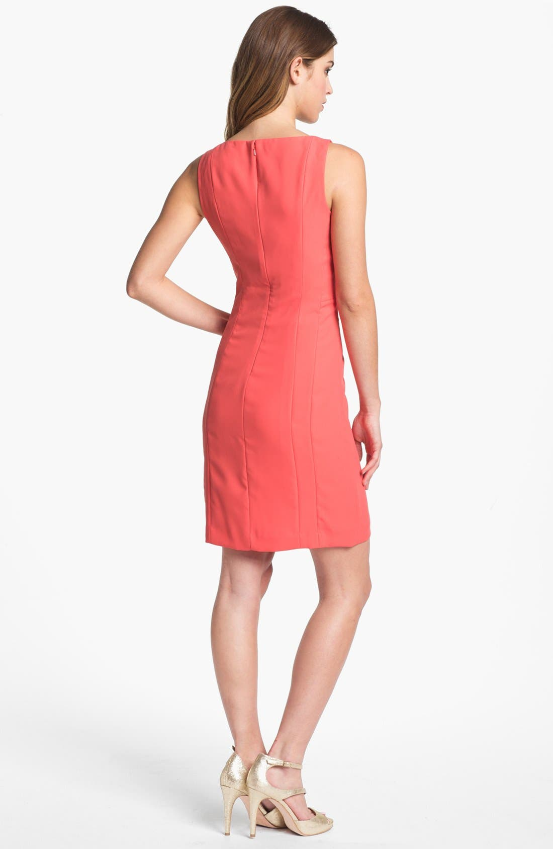 Alternate Image 2  - Halogen Seamed Sheath Dress