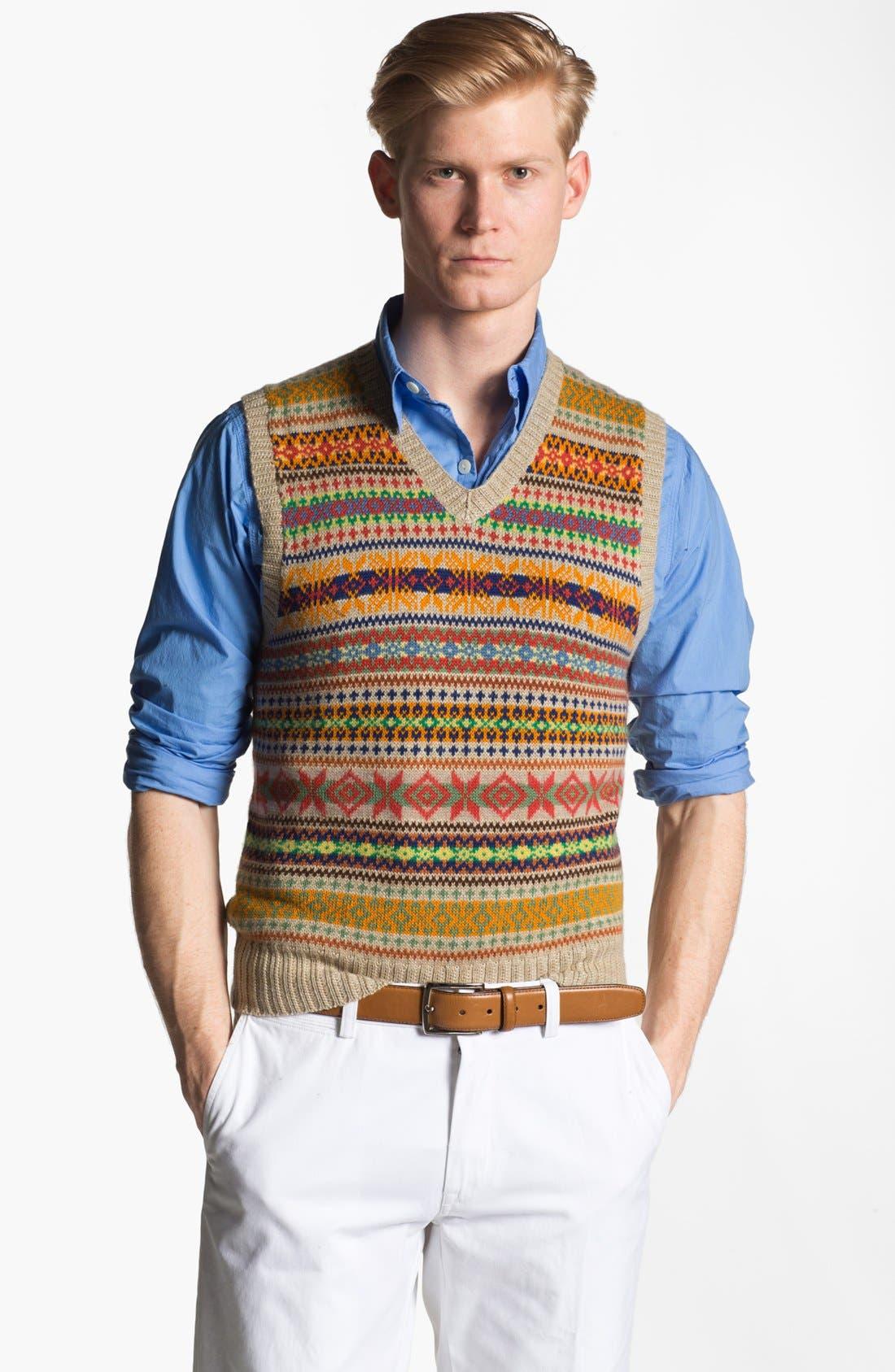 Alternate Image 1 Selected - Polo Ralph Lauren Fair Isle Sweater Vest