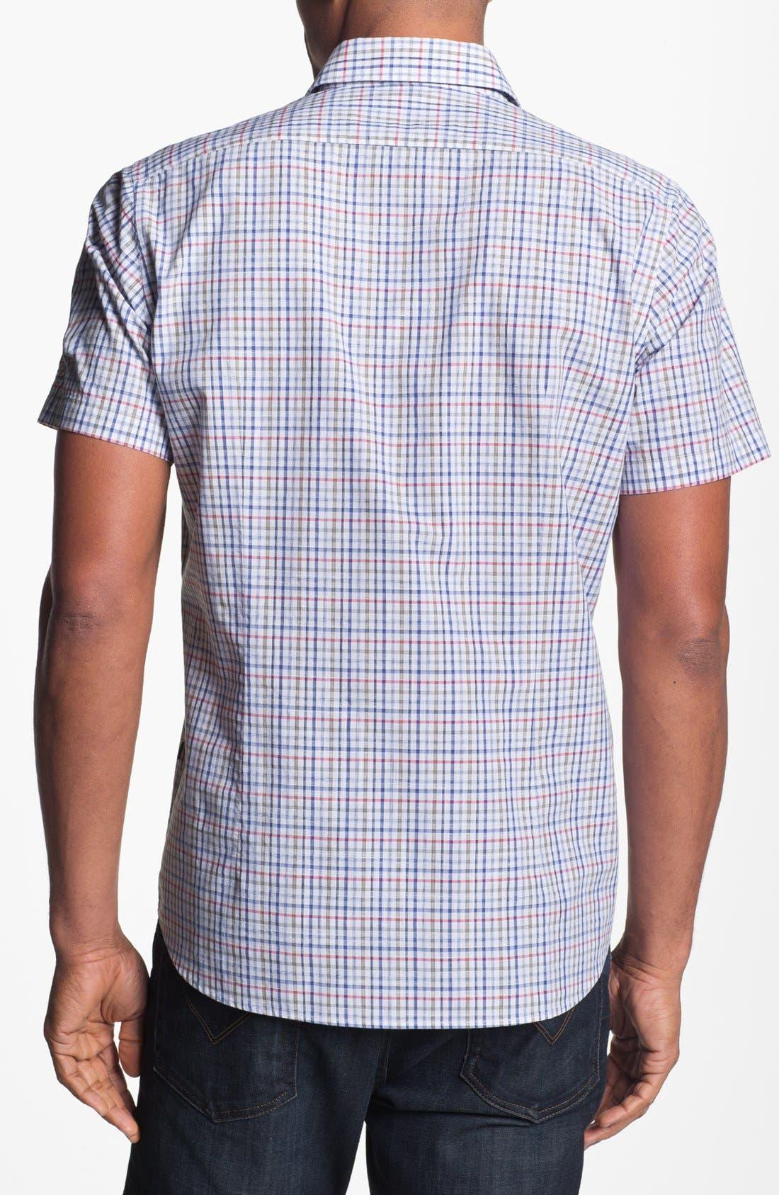 Alternate Image 2  - BOSS HUGO BOSS 'Kenny' Regular Fit Plaid Short Sleeve Sport Shirt