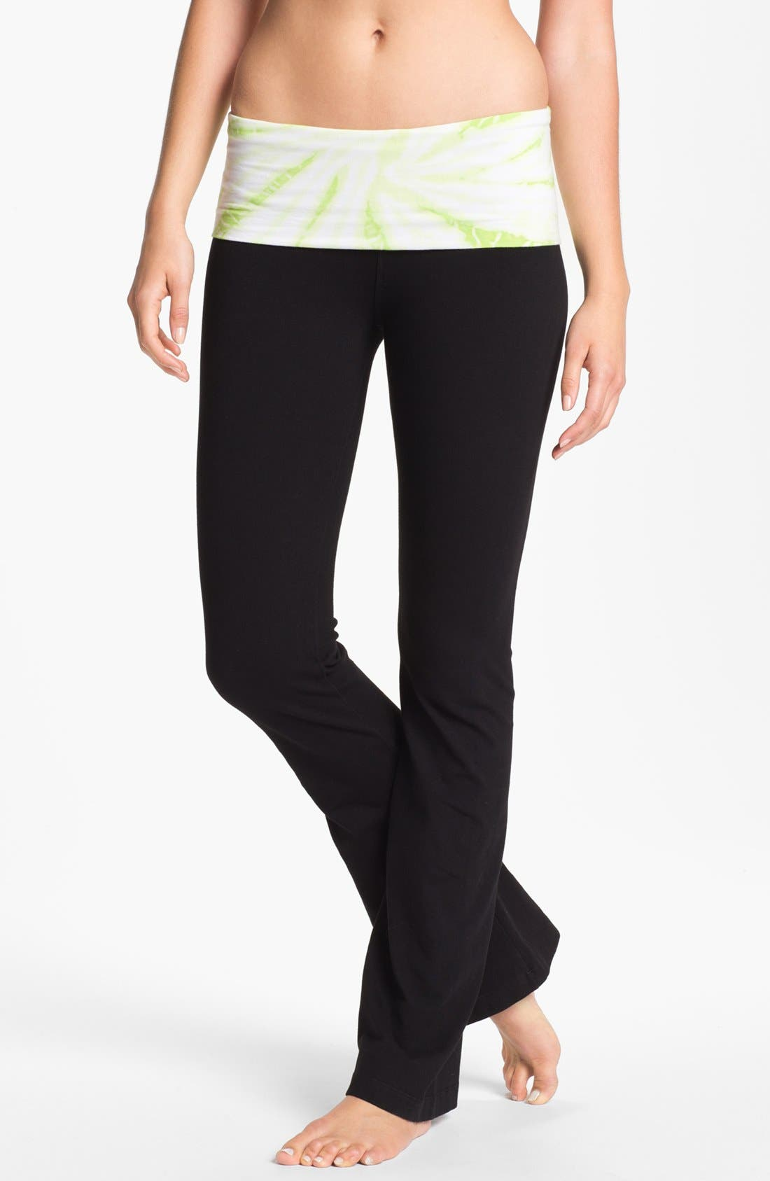 Alternate Image 1 Selected - Hard Tail Contour Roll Waist Pants
