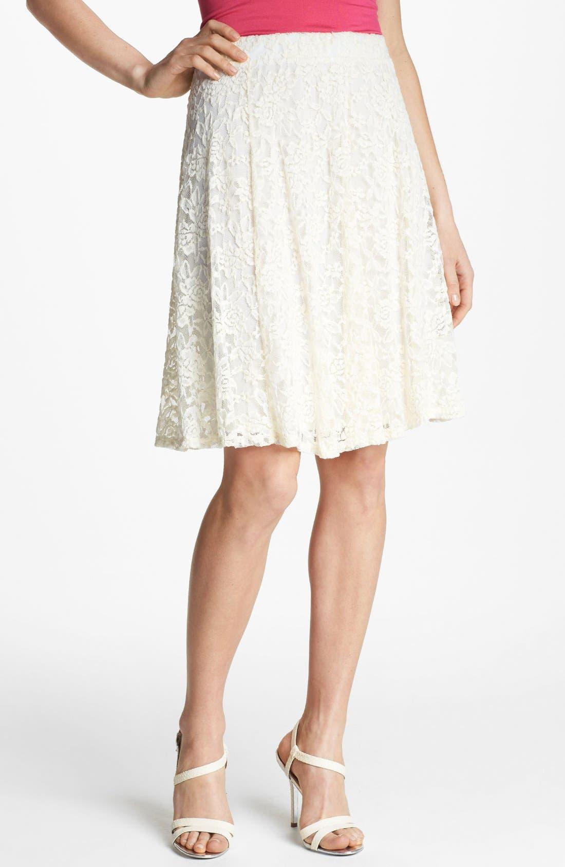 Alternate Image 1 Selected - Bobeau High Waist Lace Skirt