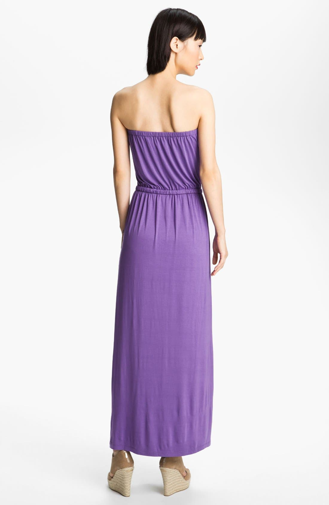 Alternate Image 2  - Felicity & Coco Strapless Jersey Maxi Dress (Nordstrom Exclusive)