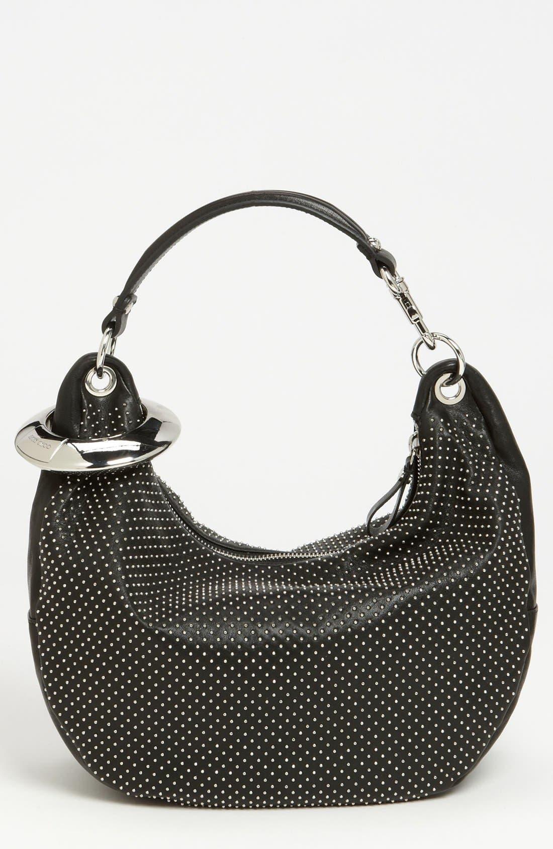 Main Image - Jimmy Choo 'Solar - Small' Studded Leather Hobo