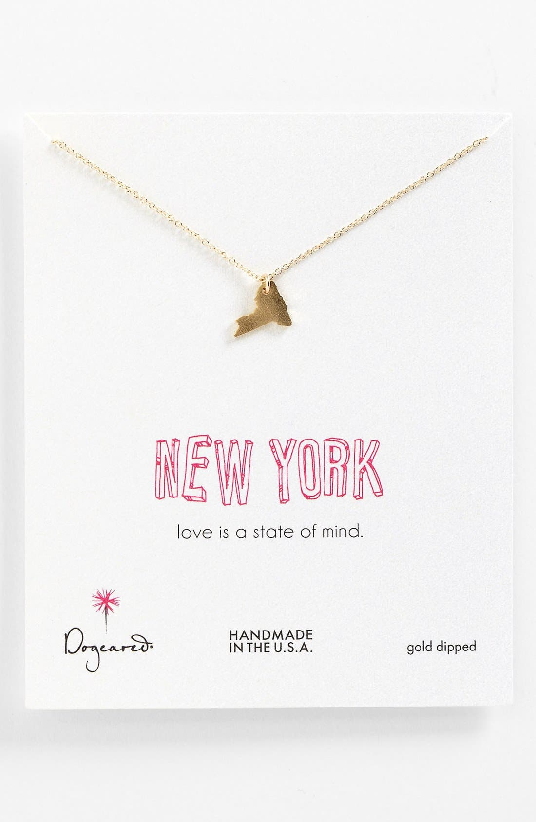 Alternate Image 1 Selected - Dogeared 'State of Mind - New York' Pendant Necklace