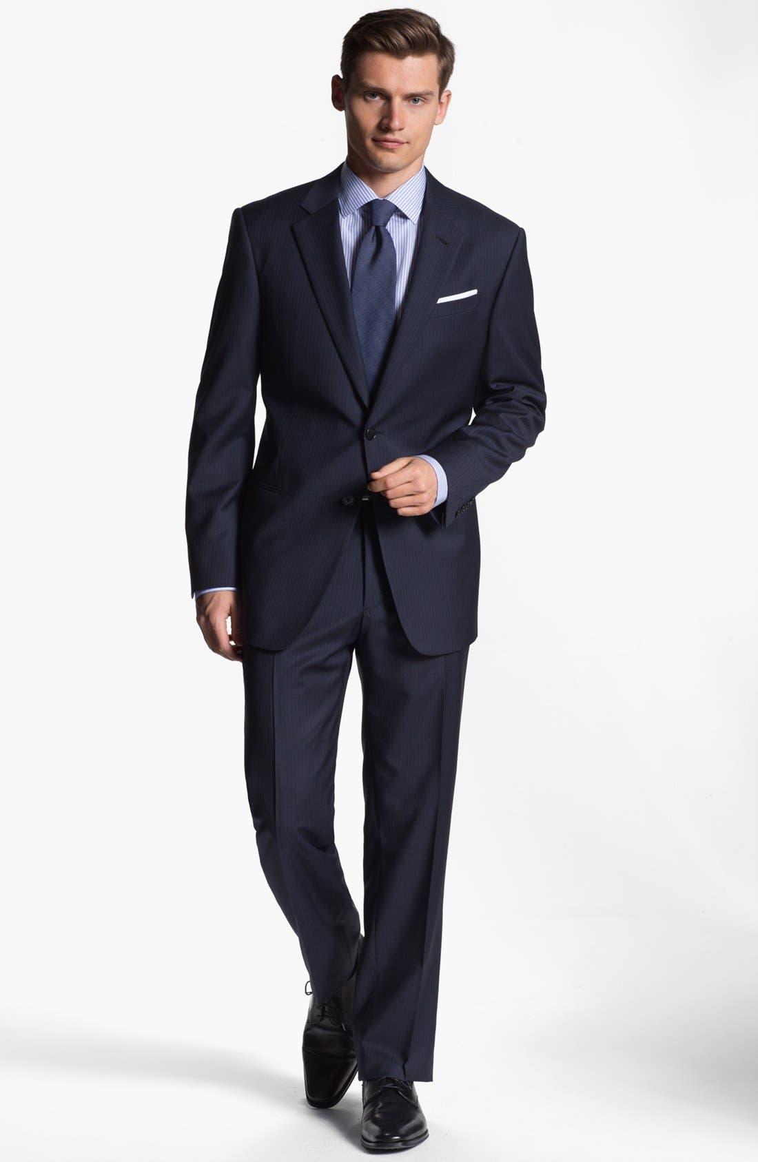 Alternate Image 2  - Armani Collezioni 'Giorgio' Chalk Stripe Wool Suit