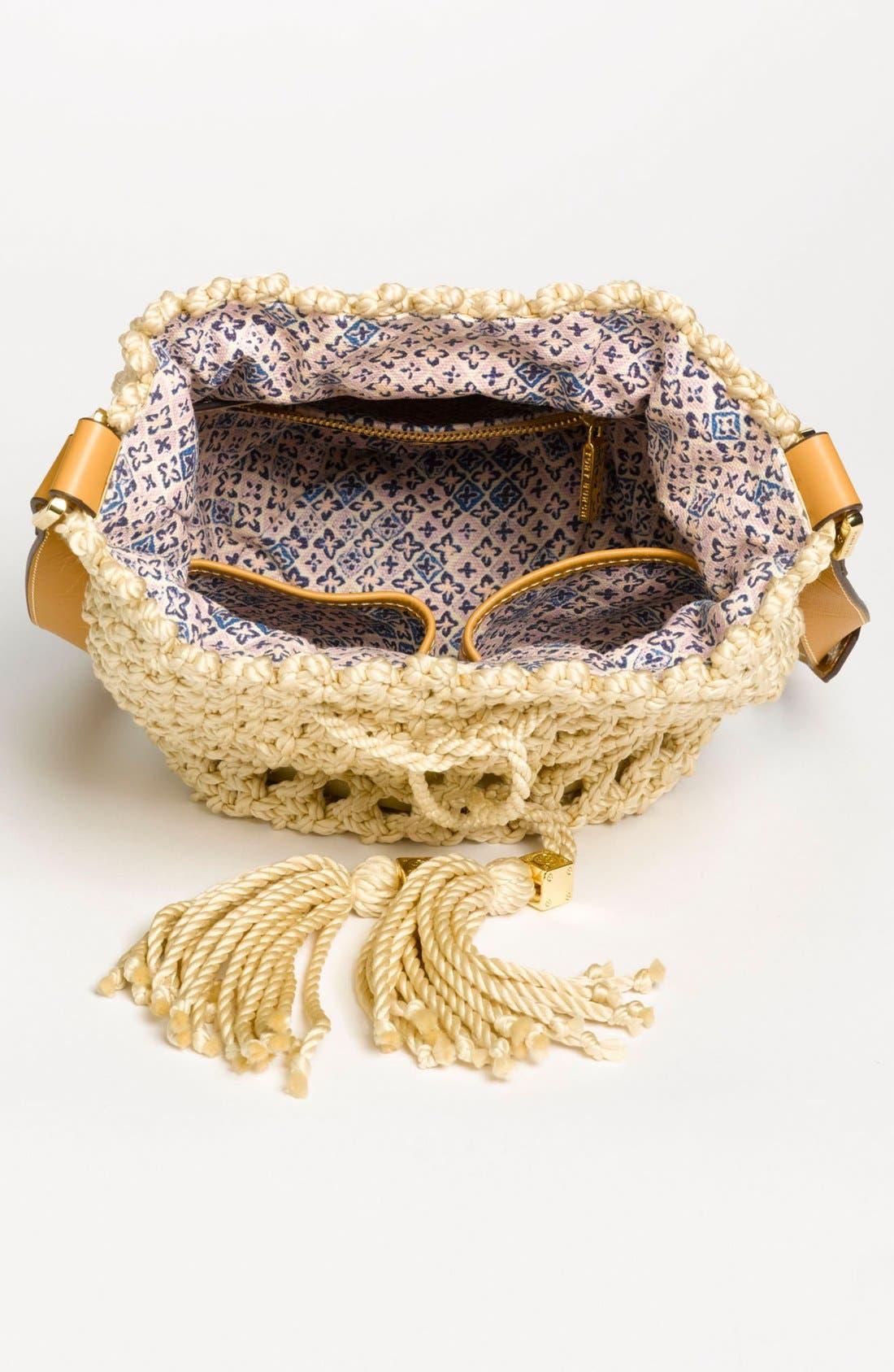 Alternate Image 3  - Tory Burch 'Dawson - Small' Crocheted Bucket Bag