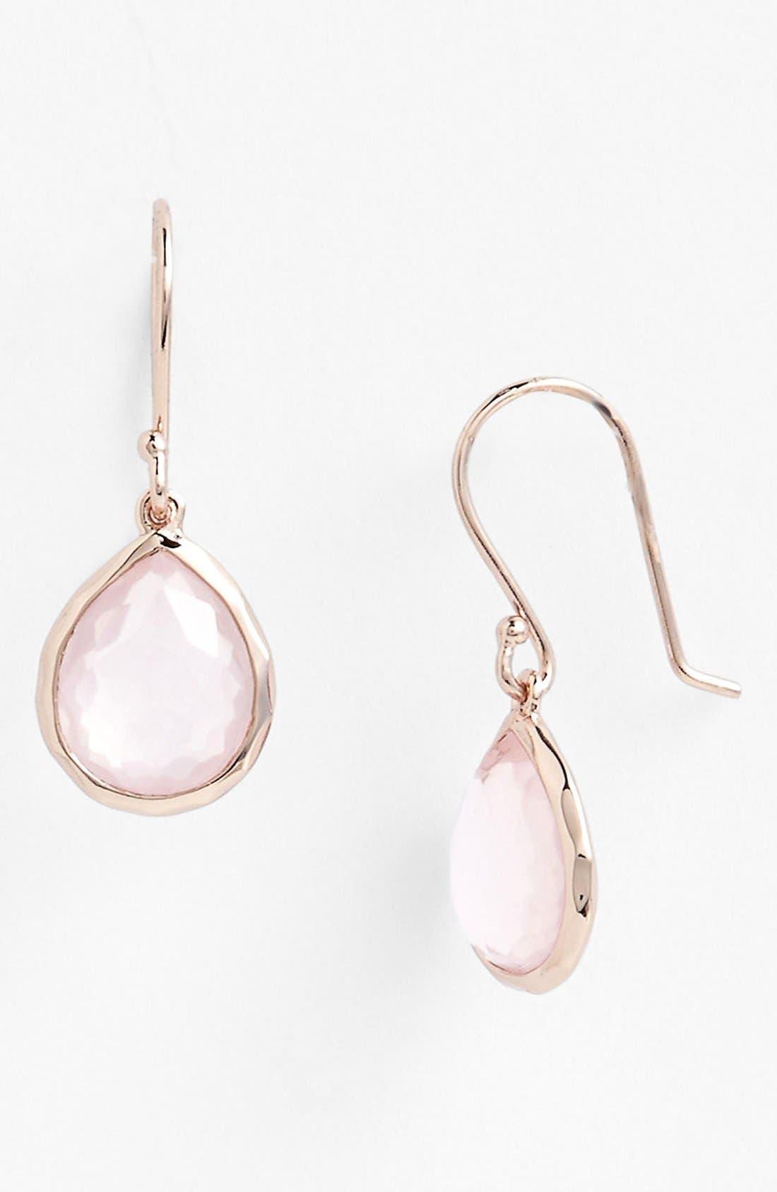 Alternate Image 1 Selected - Ippolita 'Rock Candy - Teeny Teardrop' Rosé Earrings