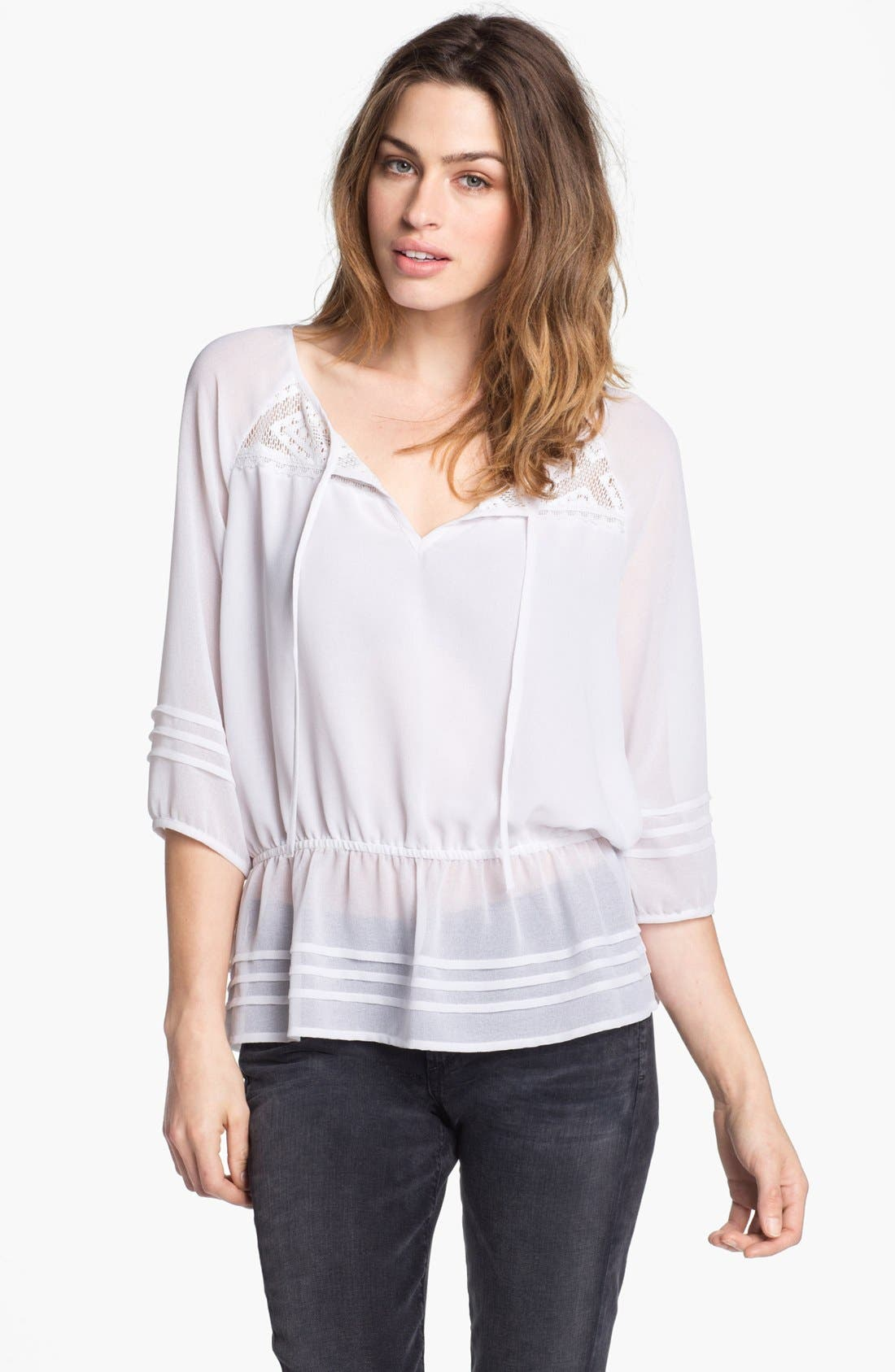 Alternate Image 1 Selected - Sanctuary Peplum Peasant Blouse