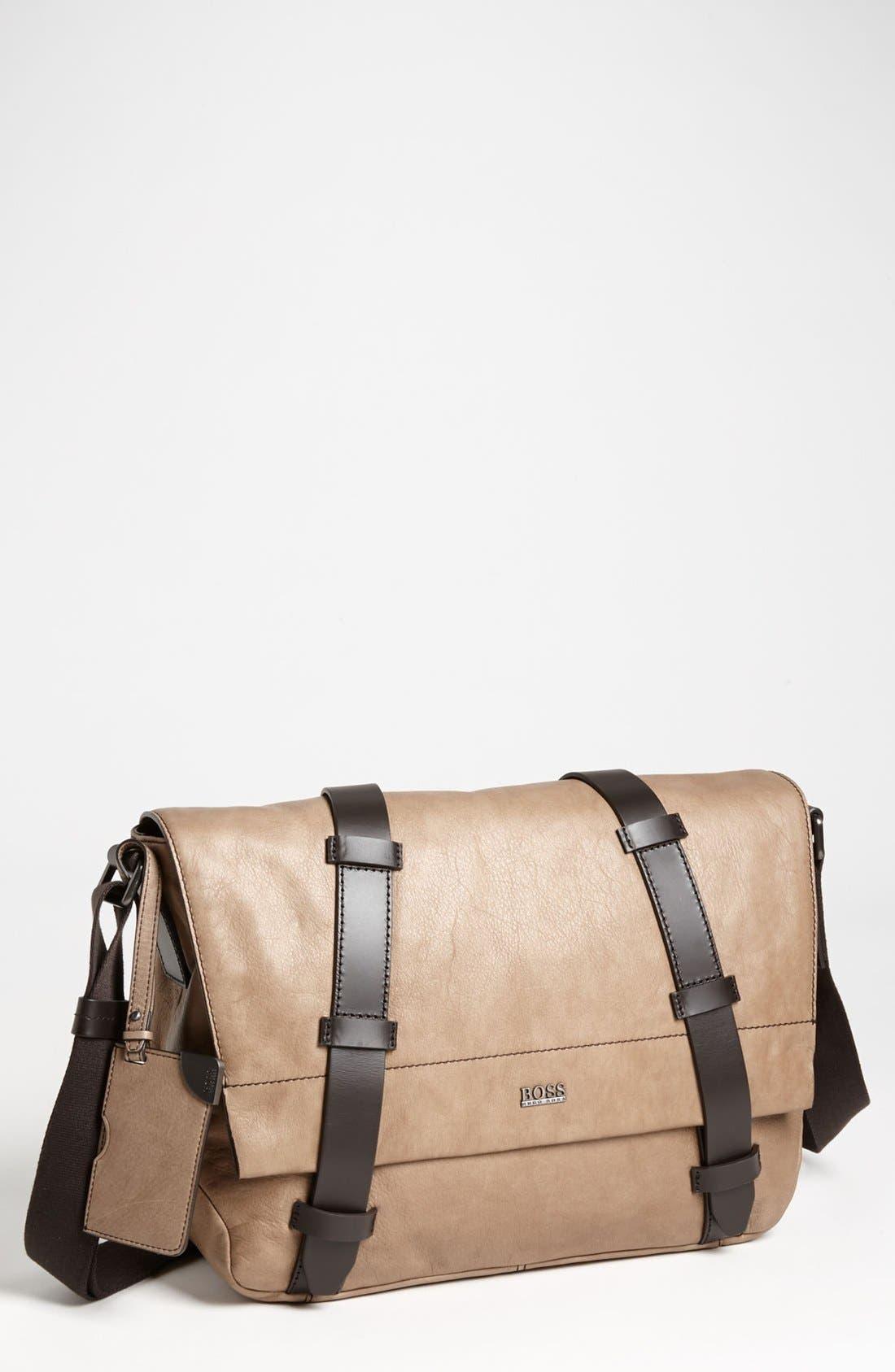 Alternate Image 1 Selected - BOSS Black 'Rotin' Messenger Bag