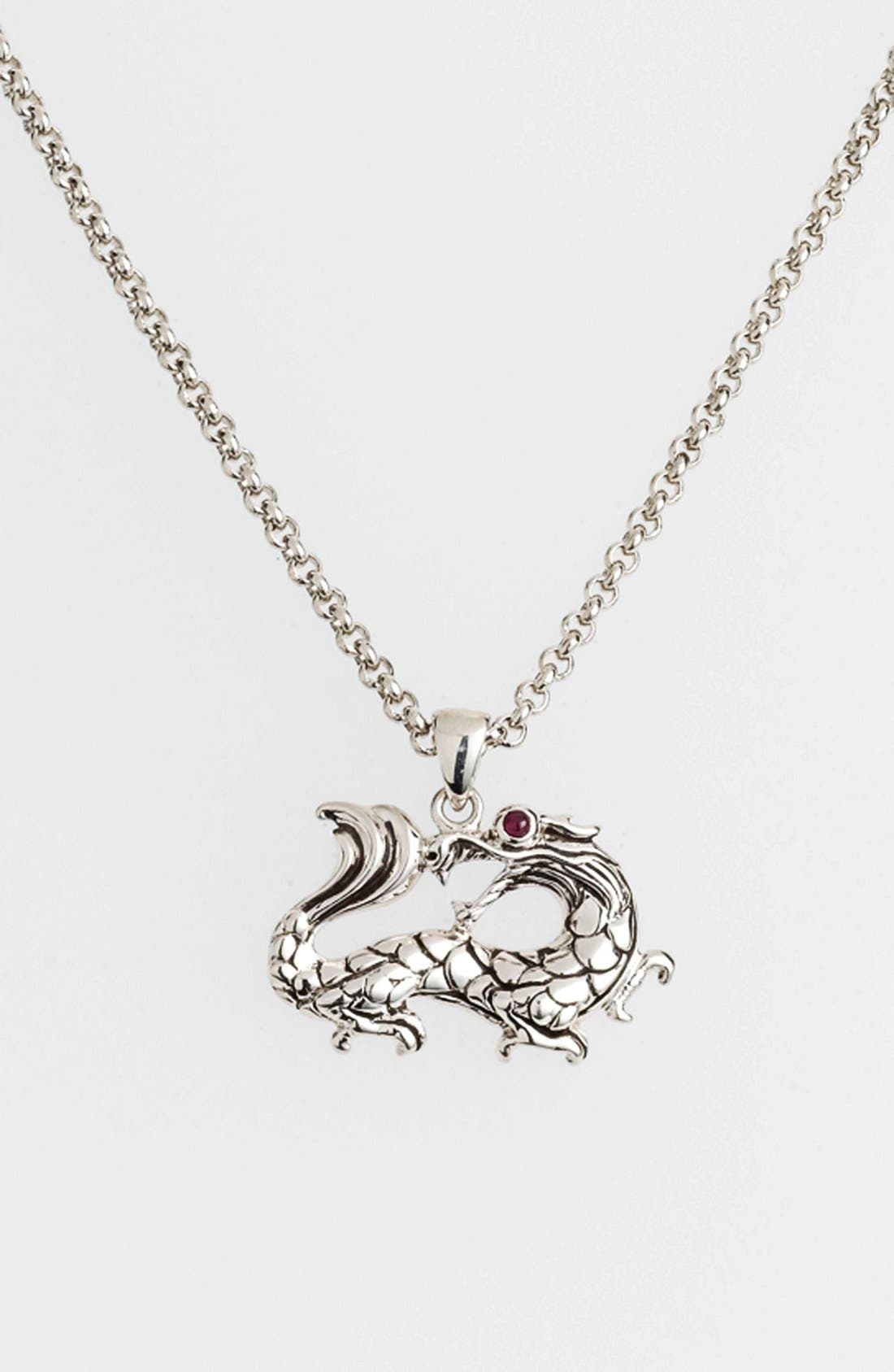 Alternate Image 1 Selected - John Hardy 'Naga Batu' Dragon Pendant Necklace