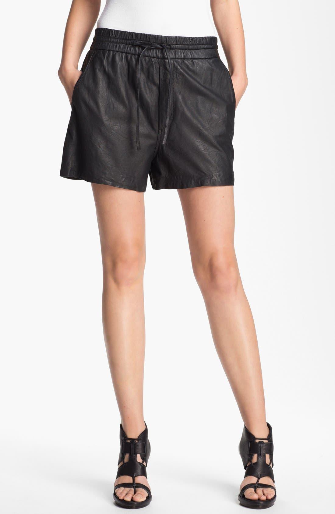 Main Image - HELMUT Helmut Lang Washed Leather Shorts