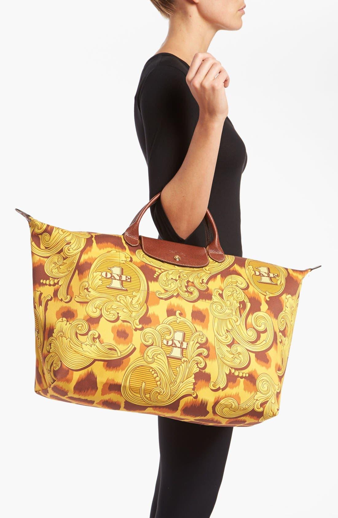 Alternate Image 2  - Longchamp 'Jeremy Scott - Leopard Flourish' Canvas Travel Bag
