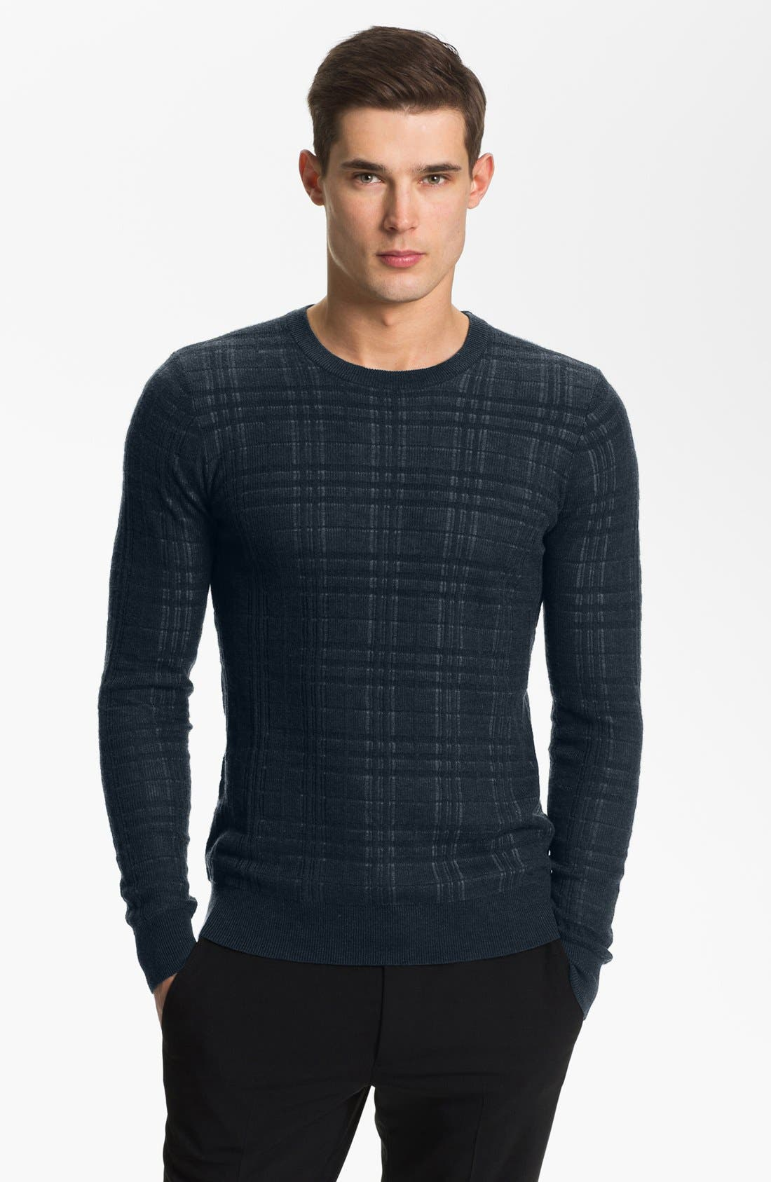 Alternate Image 1 Selected - Armani Collezioni Crewneck Knit Sweater