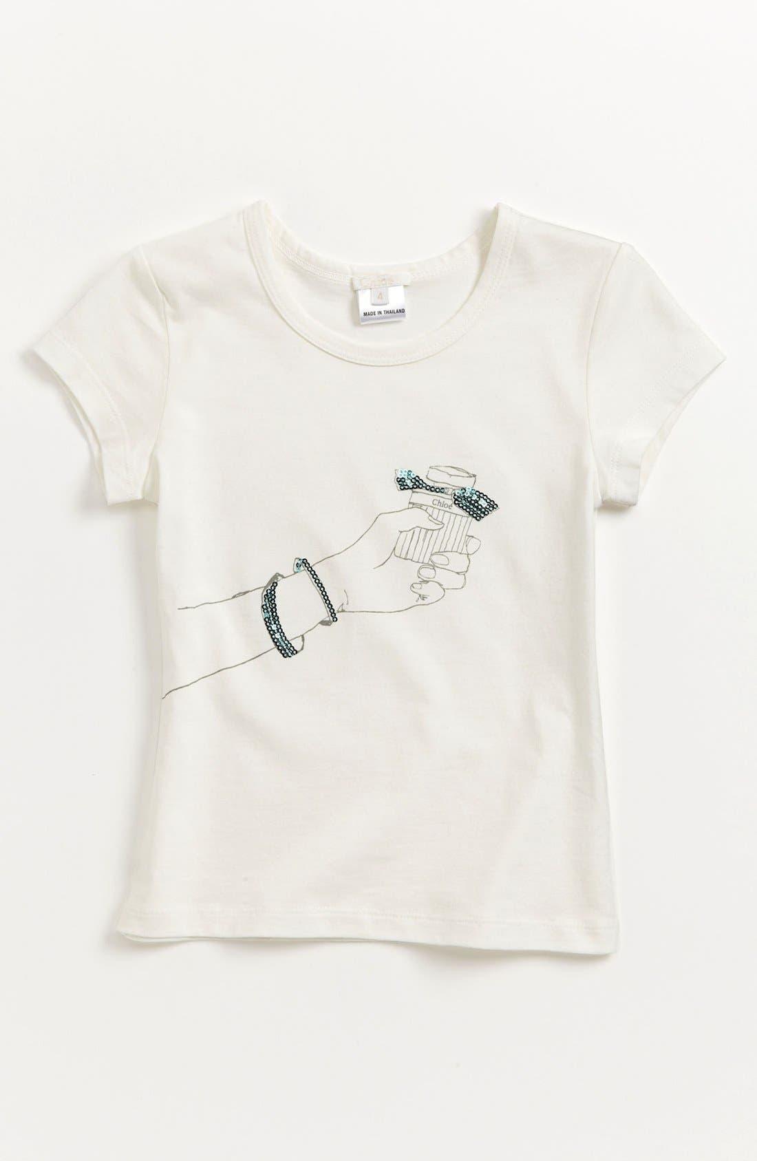 Alternate Image 1 Selected - Chloé Print Tee (Toddler, Little Girls & Big Girls)