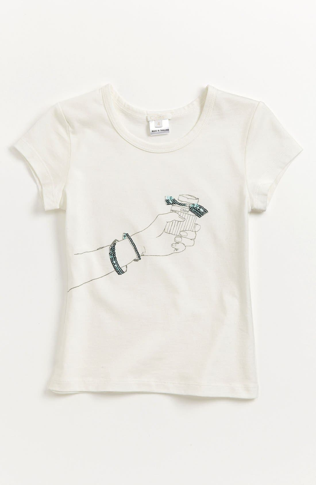 Main Image - Chloé Print Tee (Toddler, Little Girls & Big Girls)