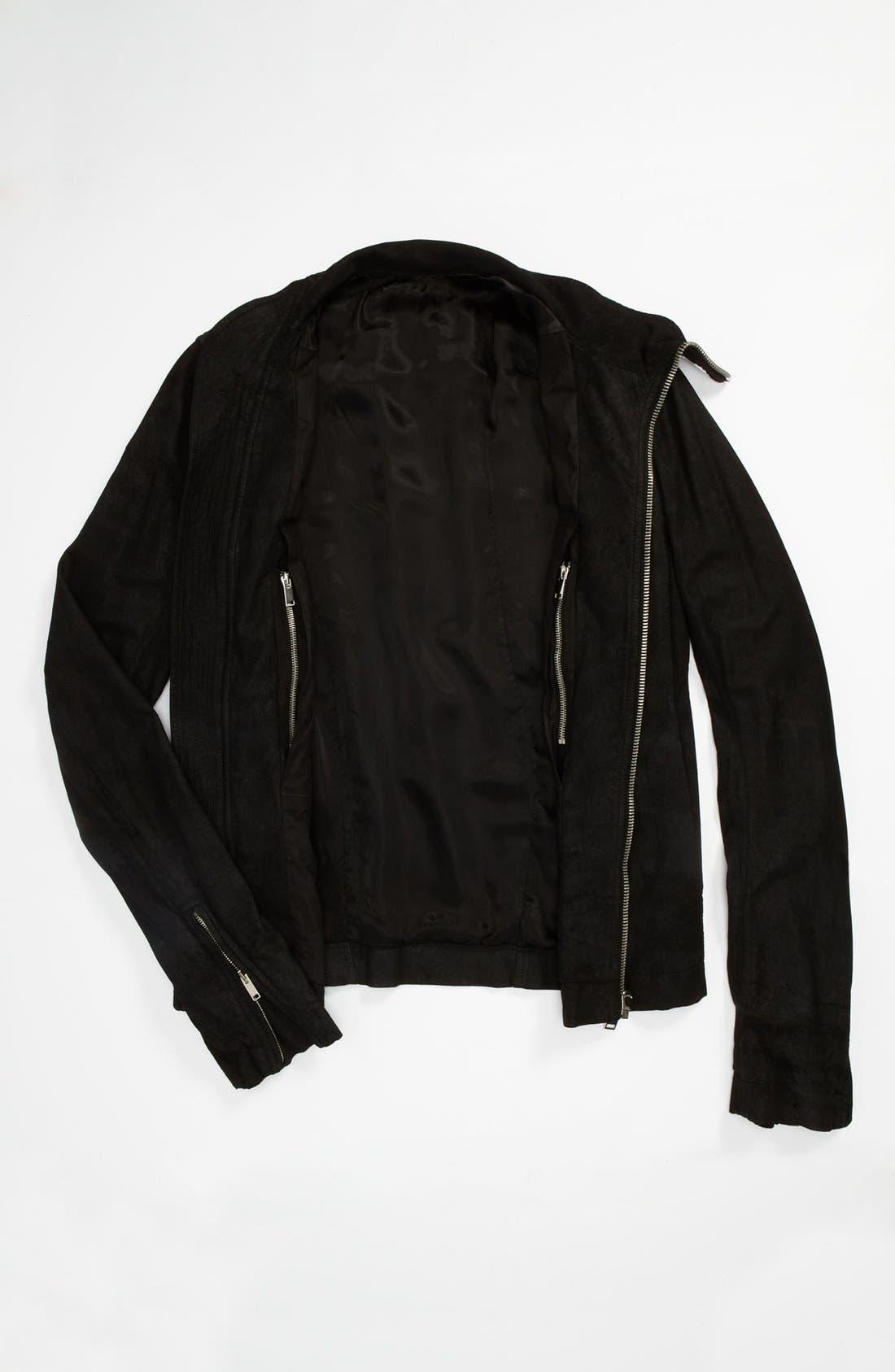 Alternate Image 4  - Rick Owens 'Mollino' Lambskin Leather Jacket