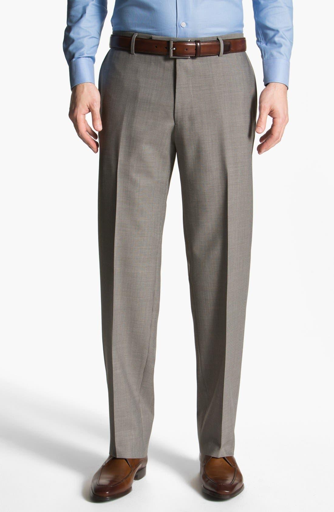 Alternate Image 1 Selected - BOSS HUGO BOSS 'Jeffrey US' Flat Front Trousers