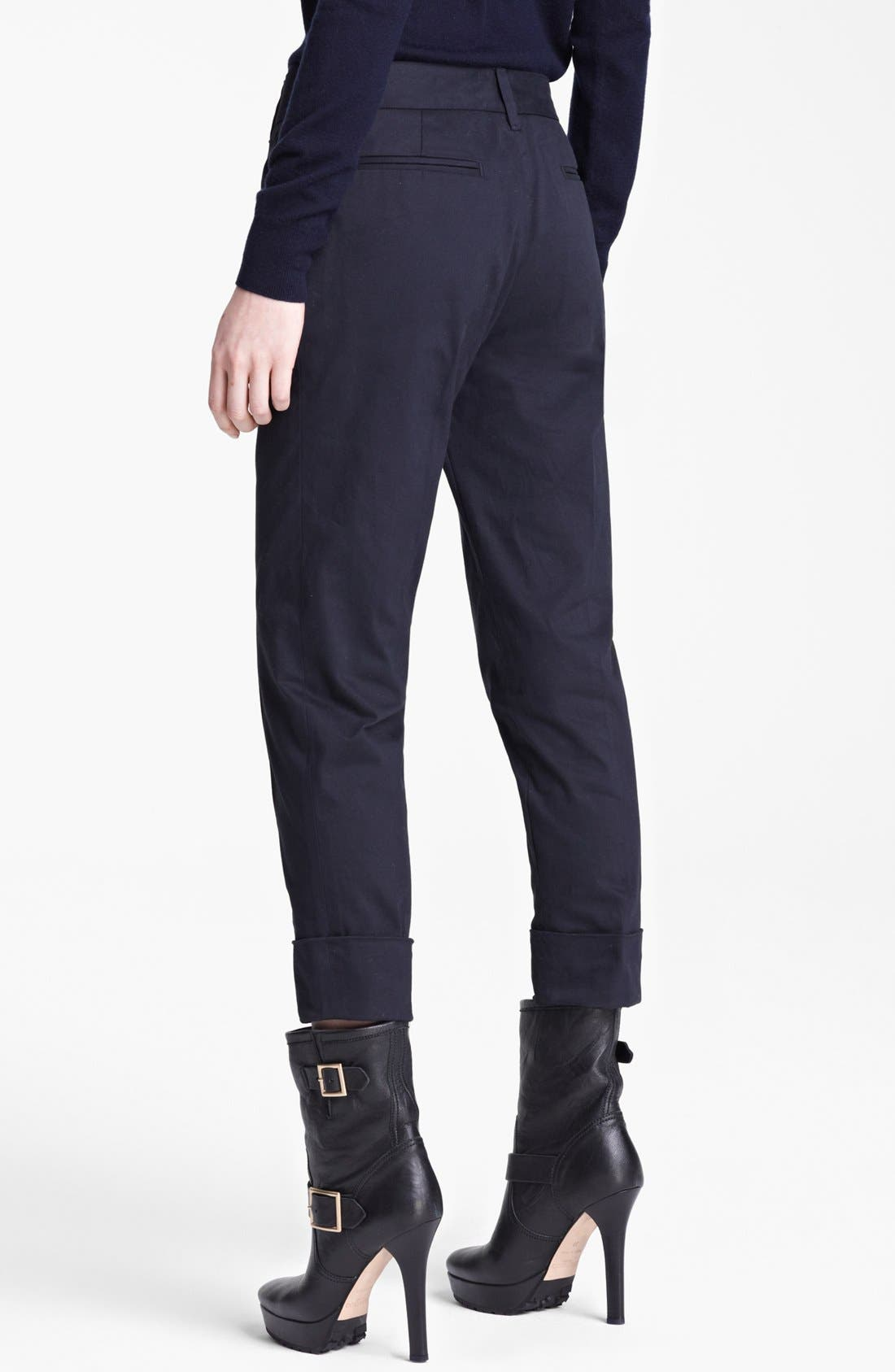 Alternate Image 2  - Band of Outsiders Stretch Sateen Capri Pants