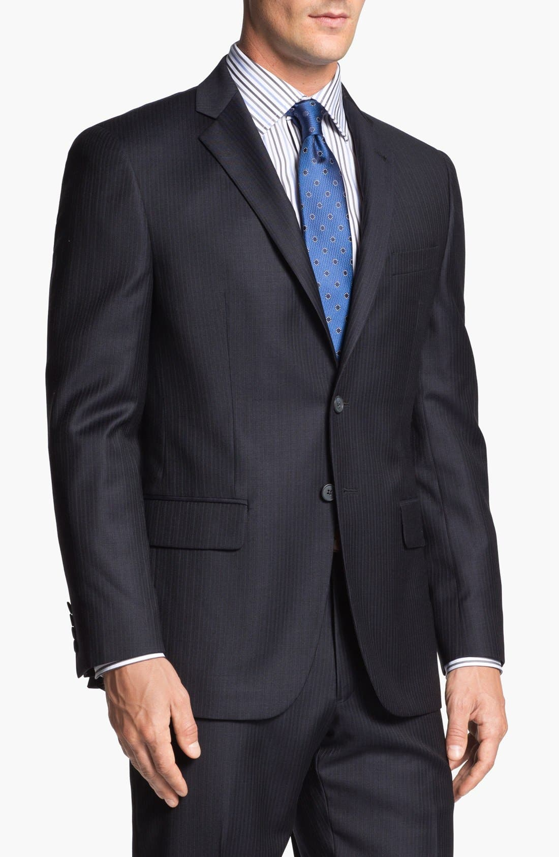 Alternate Image 2  - Joseph Abboud Suit & David Donahue Dress Shirt