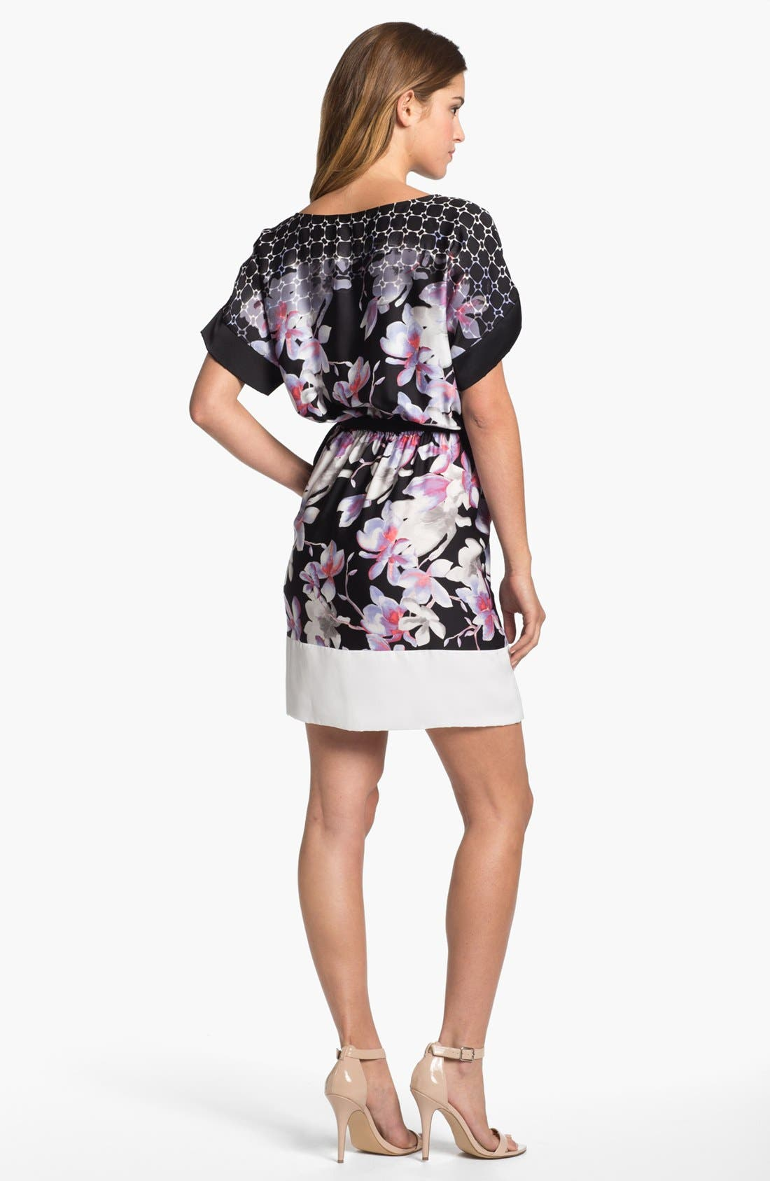 Alternate Image 2  - DKNYC Contrast Cuff Print Dress