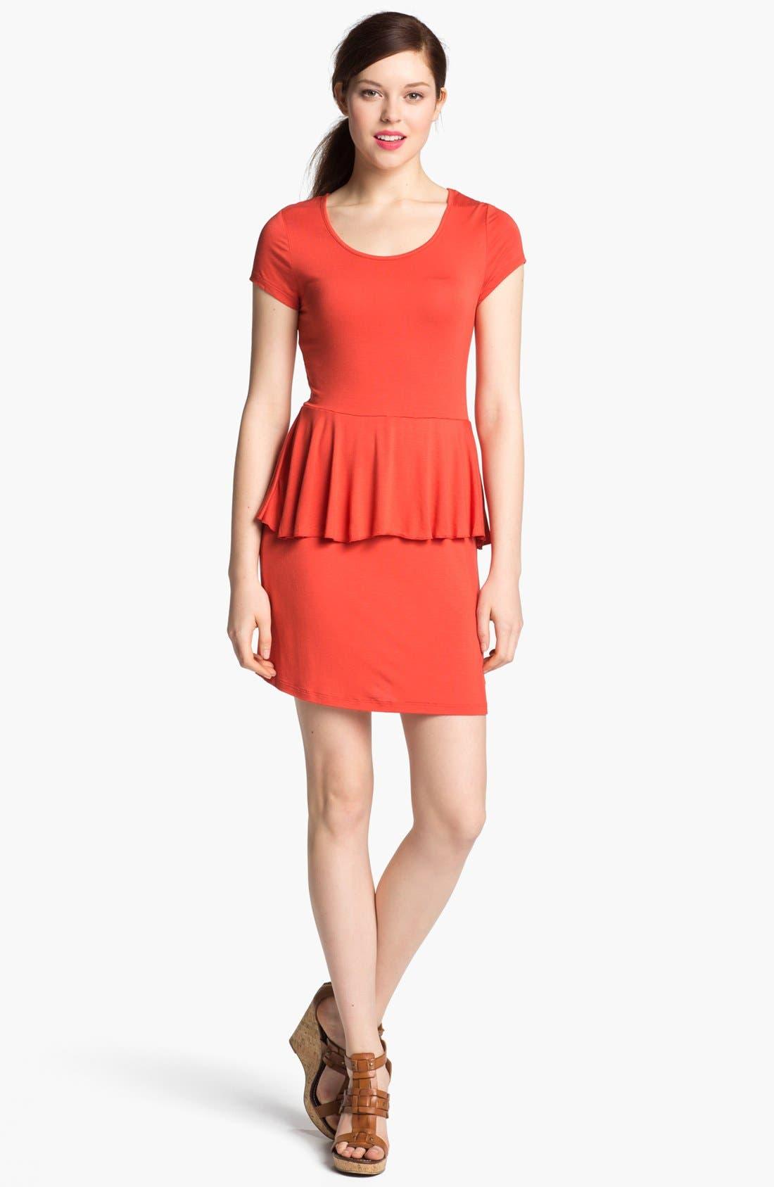Alternate Image 1 Selected - Kensie Knit Peplum Dress (Online Only)