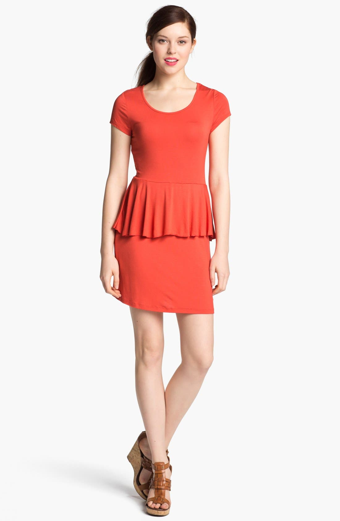 Main Image - Kensie Knit Peplum Dress (Online Only)