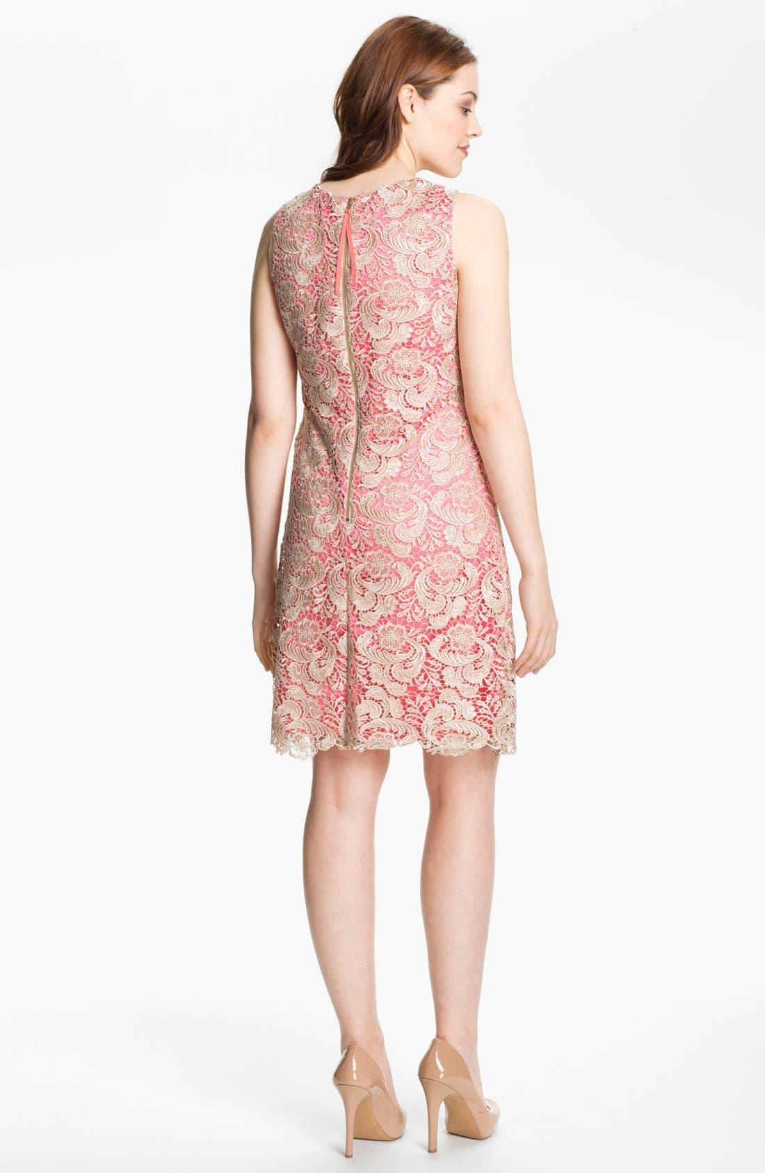 Alternate Image 2  - Eliza J Sleeveless Lace Shift Dress
