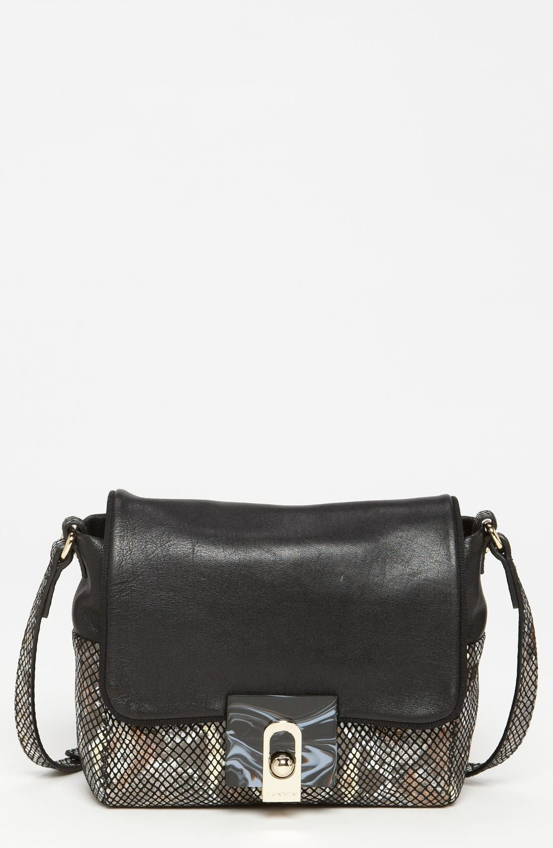 Main Image - Lanvin 'For Me - Small' Faux Snakeskin Crossbody Bag