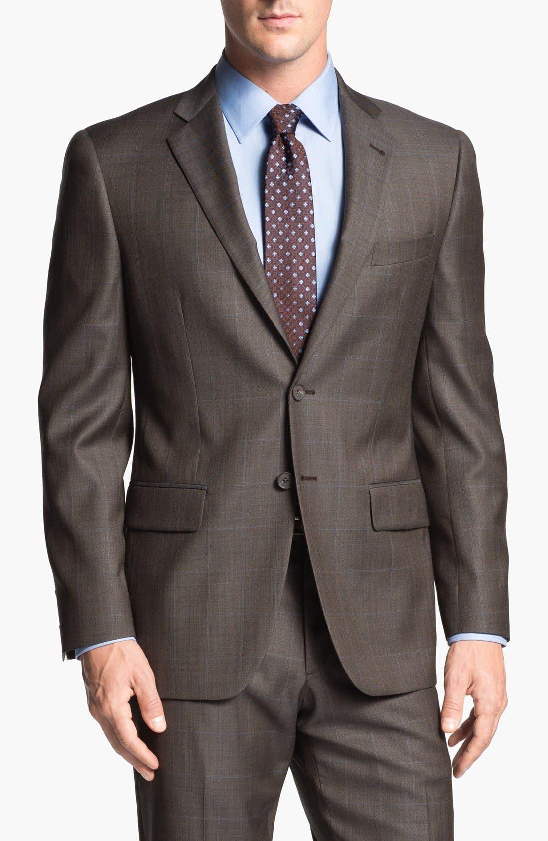 Alternate Image 4  - Joseph Abboud 'Profile Hybrid' Windowpane Trim Fit Wool Suit