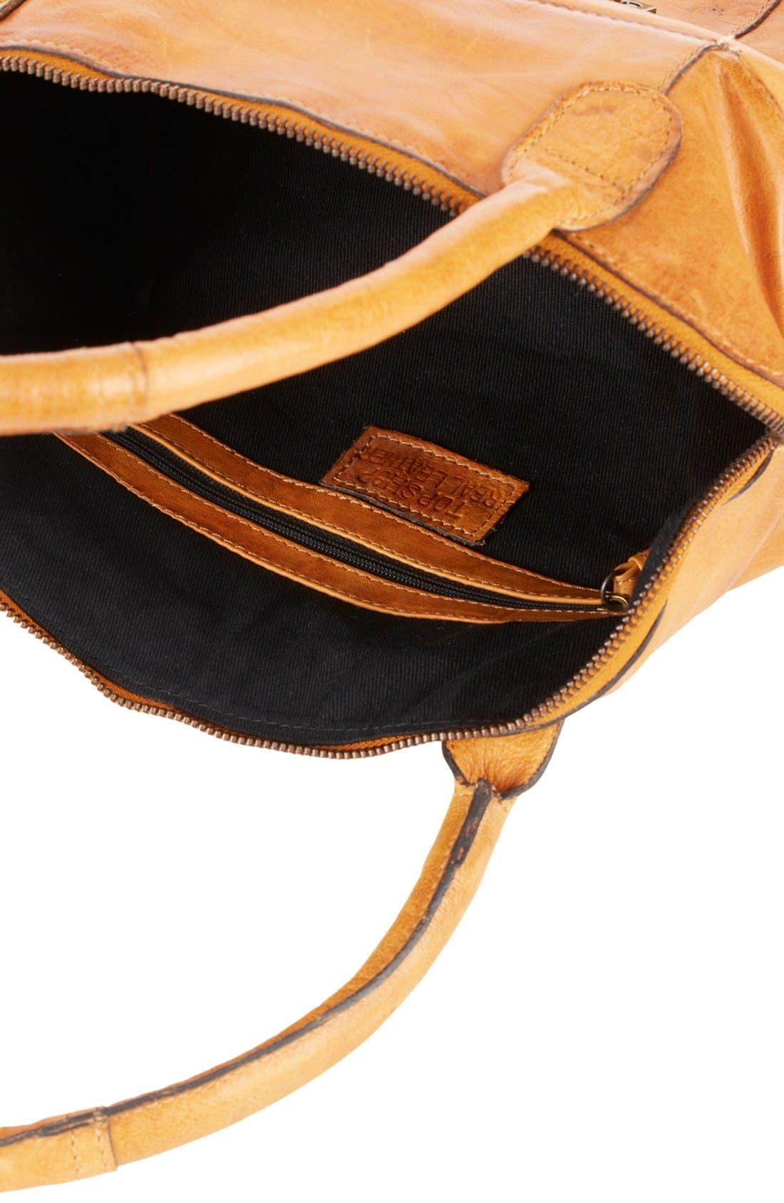 Alternate Image 3  - Topshop 'Triangle Lock' Leather Satchel