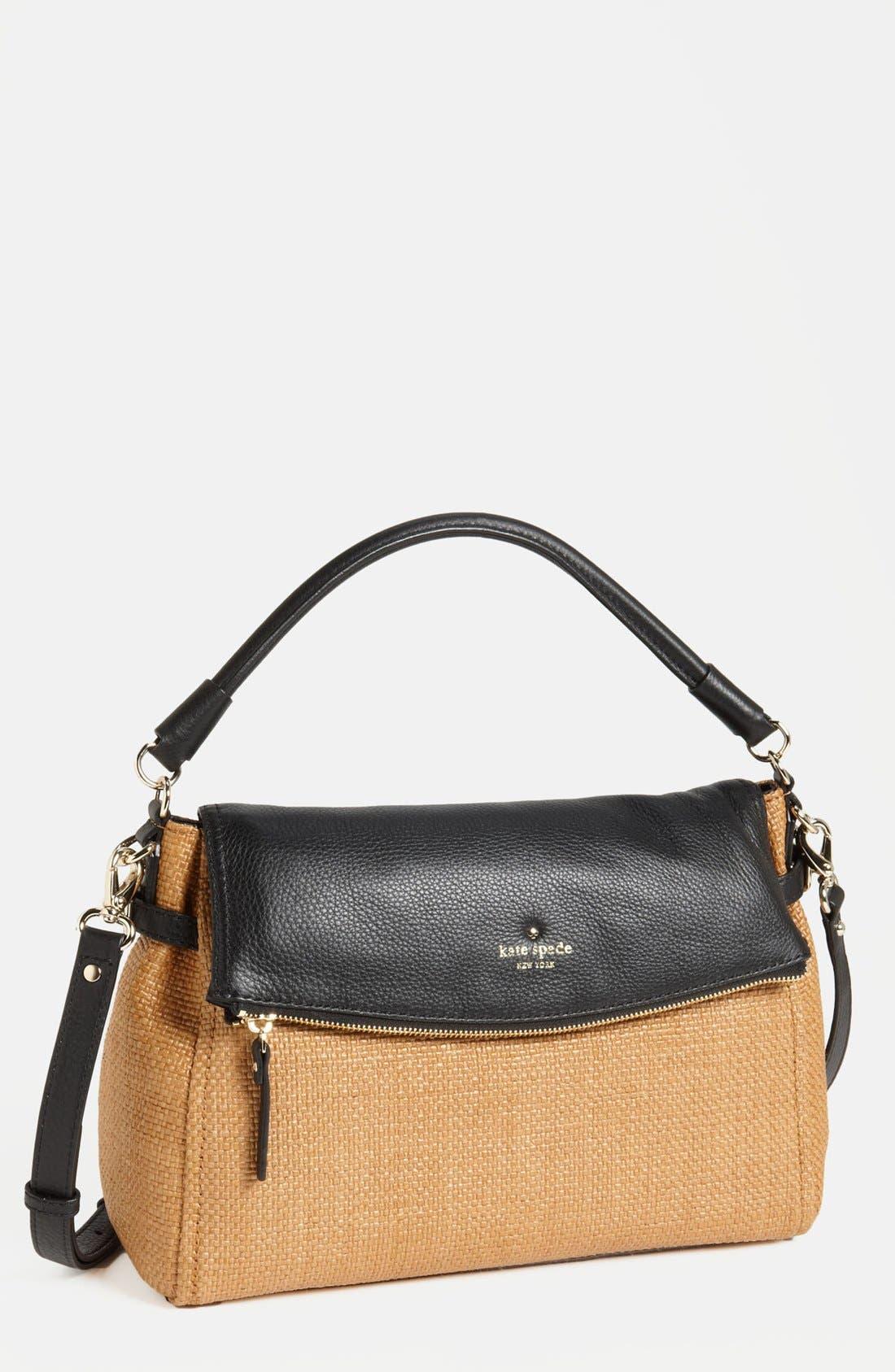 Main Image - kate spade new york 'cobble hill - little minka' straw foldover bag
