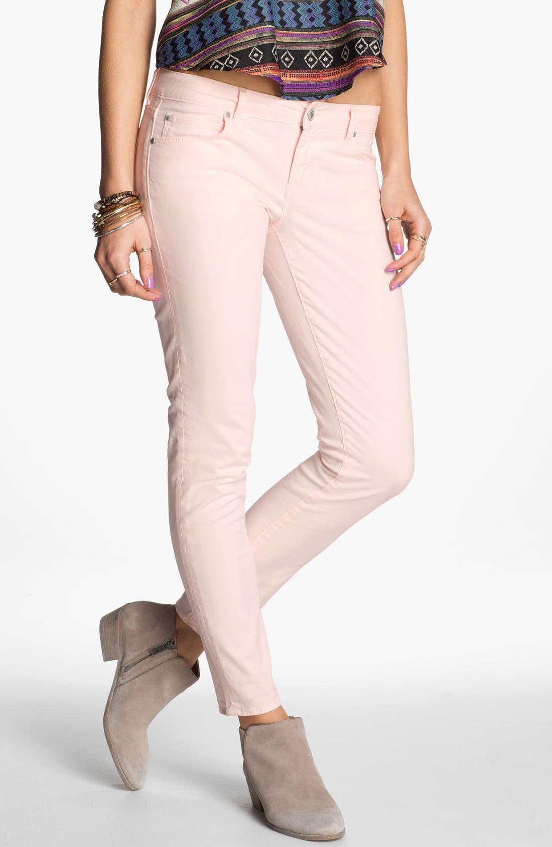 Alternate Image 1 Selected - Articles of Society 'Olivia' Skinny Pants (Juniors)