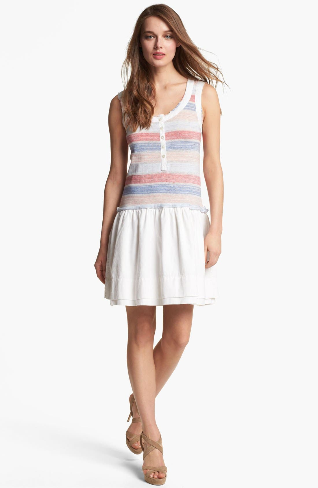 Alternate Image 1 Selected - MARC BY MARC JACOBS 'Sketch' Stripe Cotton Blend Tank Dress