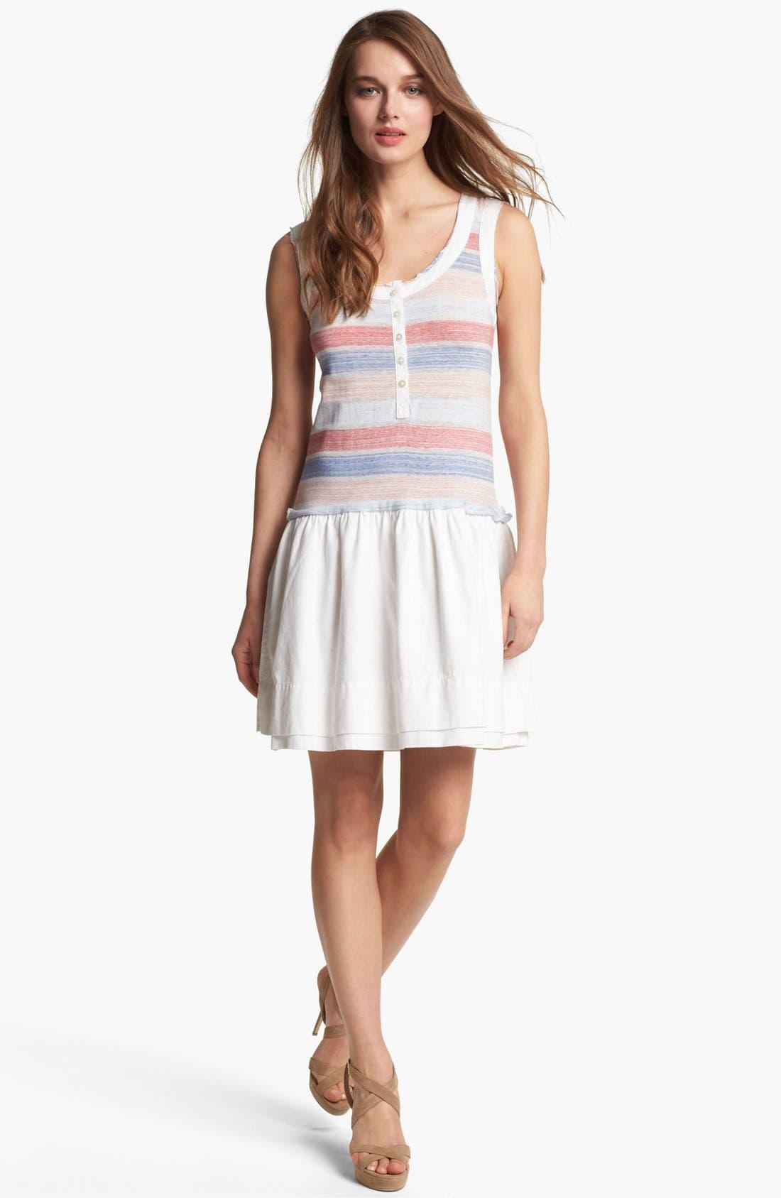 Main Image - MARC BY MARC JACOBS 'Sketch' Stripe Cotton Blend Tank Dress