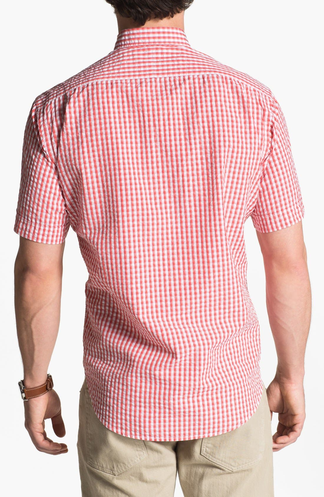 Alternate Image 2  - Thomas Dean Seersucker Sport Shirt